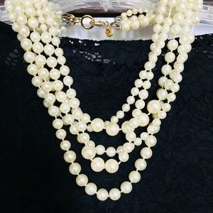 J. Crew Muli-pearl necklace.